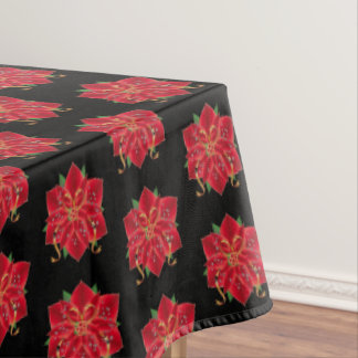 "Tablecloth ""60x84"" Red Poinsettias"