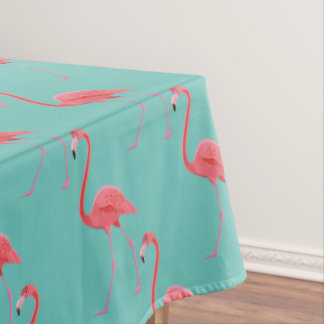 "Tablecloth ""60x84"" Tropical Pink Flamingo"