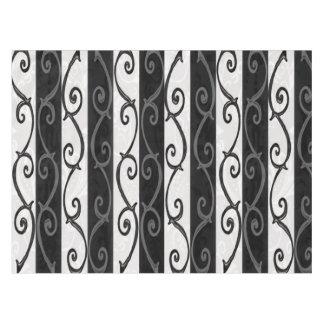 Tablecloth - Burtonesque Stripes and Swirls