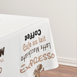 Tablecloth Coffee, 132 cm X 178 cm