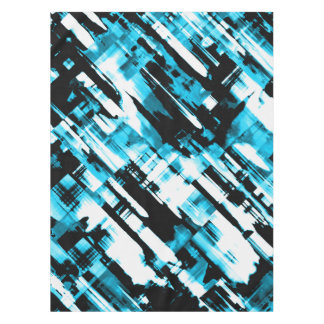 Tablecloth Hot Blue Black abstract digitalart G253