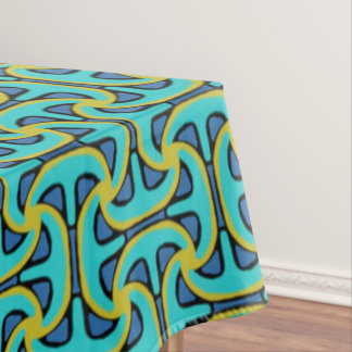 Tablecloth Jimette black and turquoise yellow