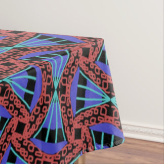 Tablecloth Jimette blue and black red Design