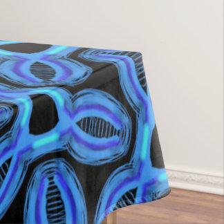 Tablecloth Jimette blue Design on black