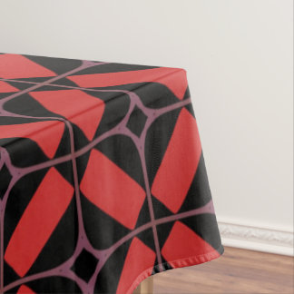 Tablecloth Jimette red and black Design