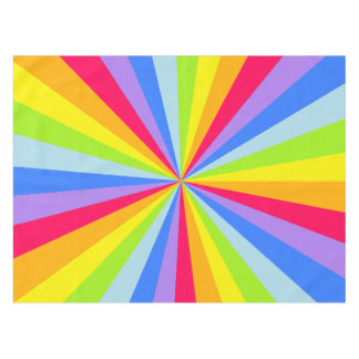 Tablecloth rainbow starburst