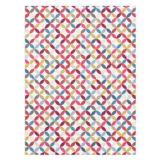 Tablecloth repeat circle colored quarters