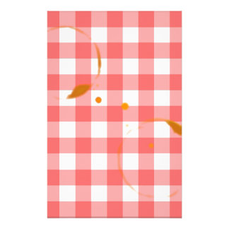 Tablecloth Ring Stains Personalized Stationery