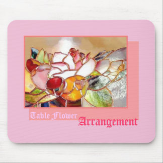 Tablel Flower Arrangement Sweet Pink Mouse Pad