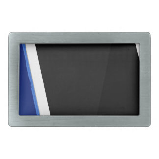 Tablet computer on white rectangular belt buckle