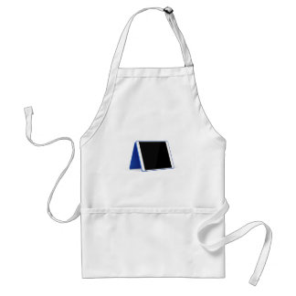 Tablet computer on white standard apron