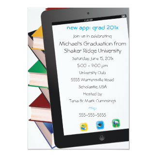 Tablet Grad Graduation Invitation