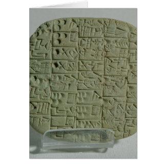 Tablet with cuneiform script card