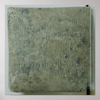 Tablet with cuneiform script poster