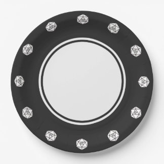 Tabletop Chic in Black Paper Plate 9 Inch Paper Plate