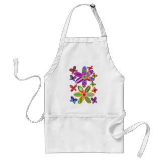 Tablier coloré de fleurs et de papillons