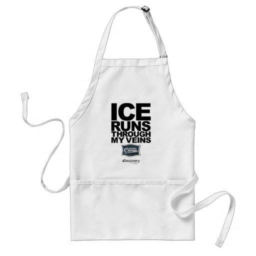 Tablier de courses de glace