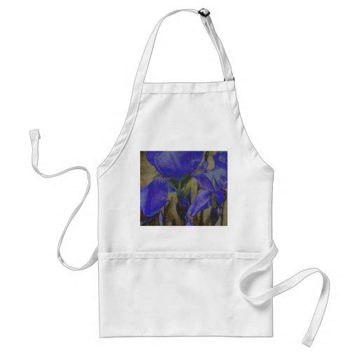 Tablier de jardin d'iris