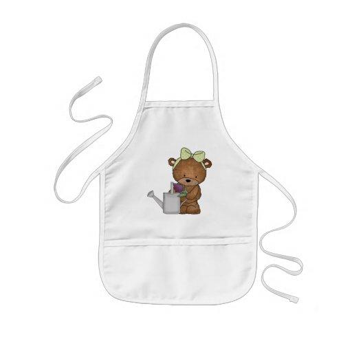 Tablier de jardinage d'ours