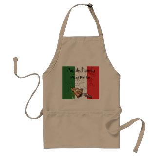 Tablier orienté de pizza italienne