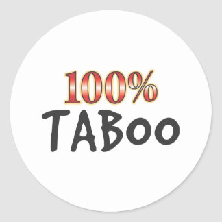 Taboo 100 Percent Round Sticker