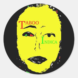 TABOO INDICA CLASSIC ROUND STICKER