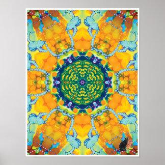 Taboo Kinetic Collage Kaleidoscope Poster