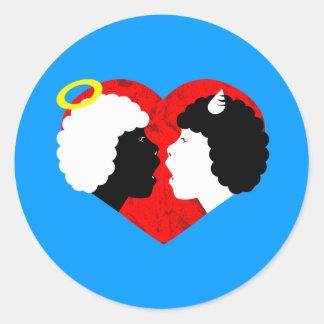 taboo love round sticker