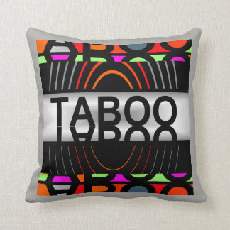 TABOO  Pillow-Home-Multi-colored/Black/White/Gray Throw Pillow
