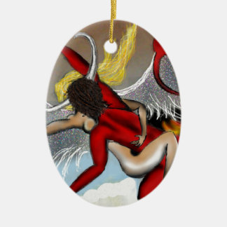 Taboo Rapture Ceramic Oval Ornament