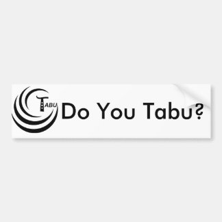 Tabu Logo no back TABU clear LARGE PNG Bumper Sticker