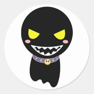 Tache la tête noire de fantôme adhésifs ronds