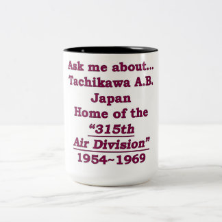 Tachikawa Air Base japan Two-Tone Coffee Mug