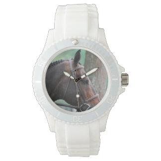 Tacked Dark Bay Horse Watch