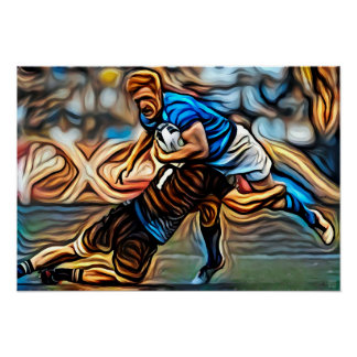 Tackle Time - Rugby Art On Canvas Print
