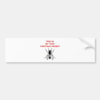 tacky christmas present bumper sticker