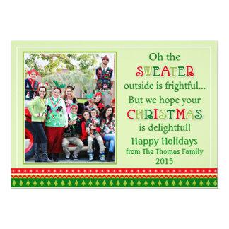 "Tacky Christmas Sweater Christmas Greeting Card 5"" X 7"" Invitation Card"