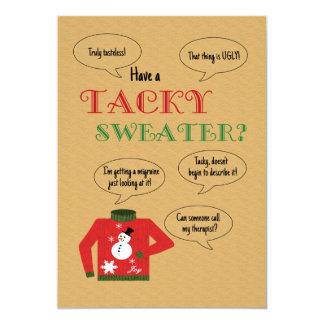 "Tacky Sweater Christmas Party 5"" X 7"" Invitation Card"