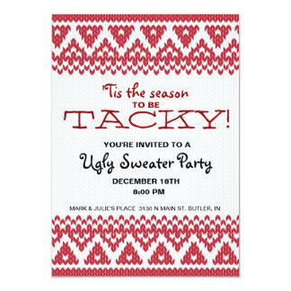 "Tacky Sweater Party 5"" X 7"" Invitation Card"