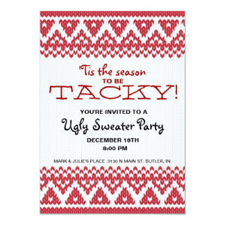 Tacky Sweater Party Card