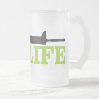 TacLife, Frosted 16 oz Frosted Glass Mug