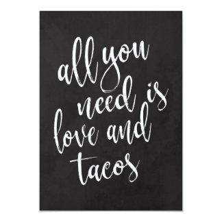 Taco bar affordable chalkboard wedding sign card