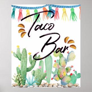 Taco Bar Poster | Taco Party