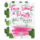 Taco Bout A Party Engagement Party Card