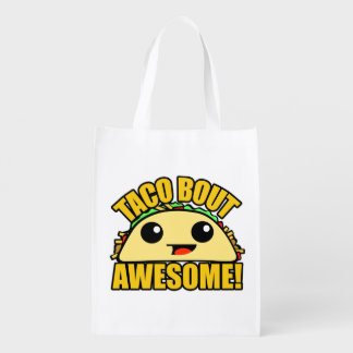 Taco Bout Awesome Reusable Grocery Bag