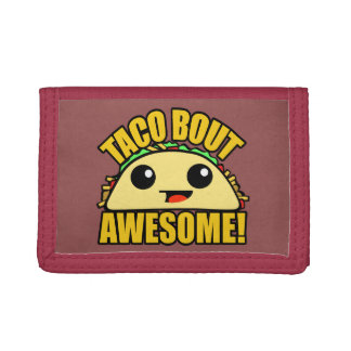 Taco Bout Awesome Tri-fold Wallets