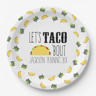 Taco 'Bout Birthday Party 9 Inch Paper Plate
