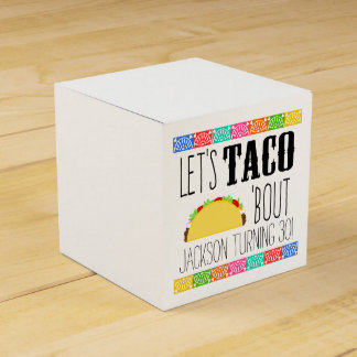 Taco 'Bout Birthday Party Favor Boxes
