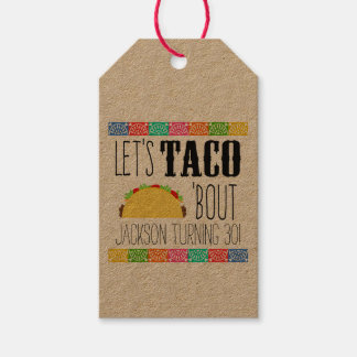 Taco 'Bout Birthday Party Pack Of Gift Tags