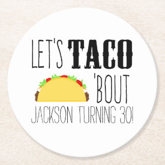 Taco 'Bout Birthday Party Paper Coaster